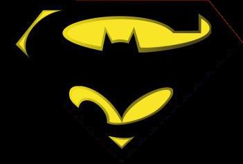 i am legend batman superman logo comics lettered