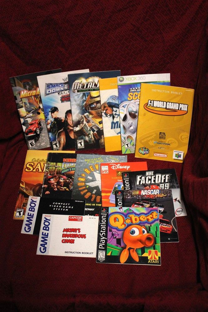 Ps1 game manual how to and user guide instructions assorted video game manuals lot of 14 n64 ps2 gameboy ps1 nascar nhl rh pinterest com publicscrutiny Gallery