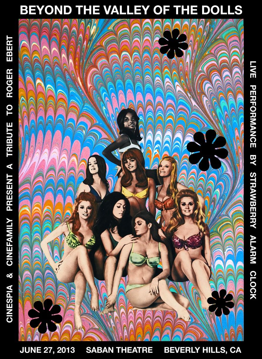 Beyond the valley of dolls cult movie poster print