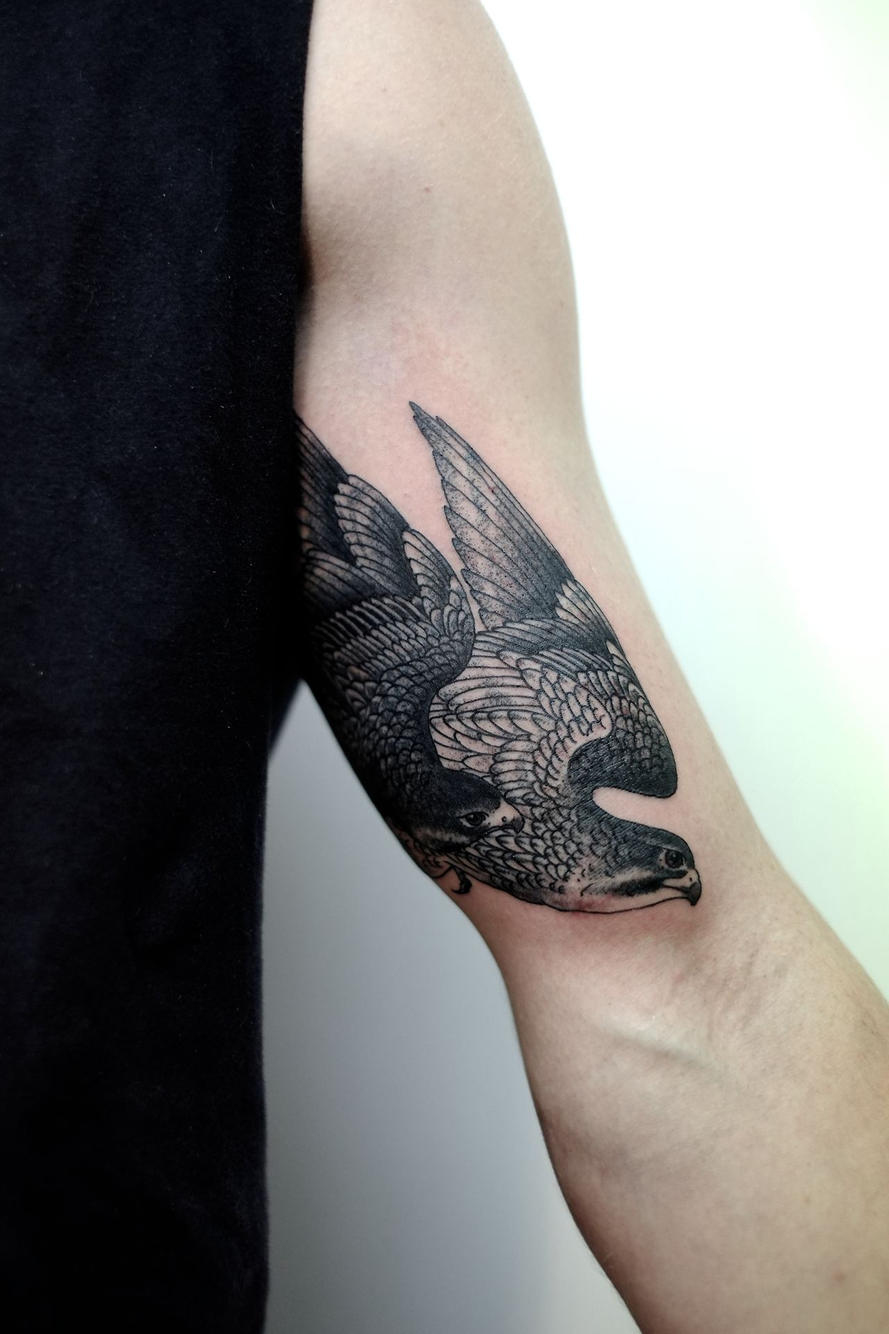 Victor J Webster Photo Geometric Tattoo Ink Tattoo Falcon Tattoo