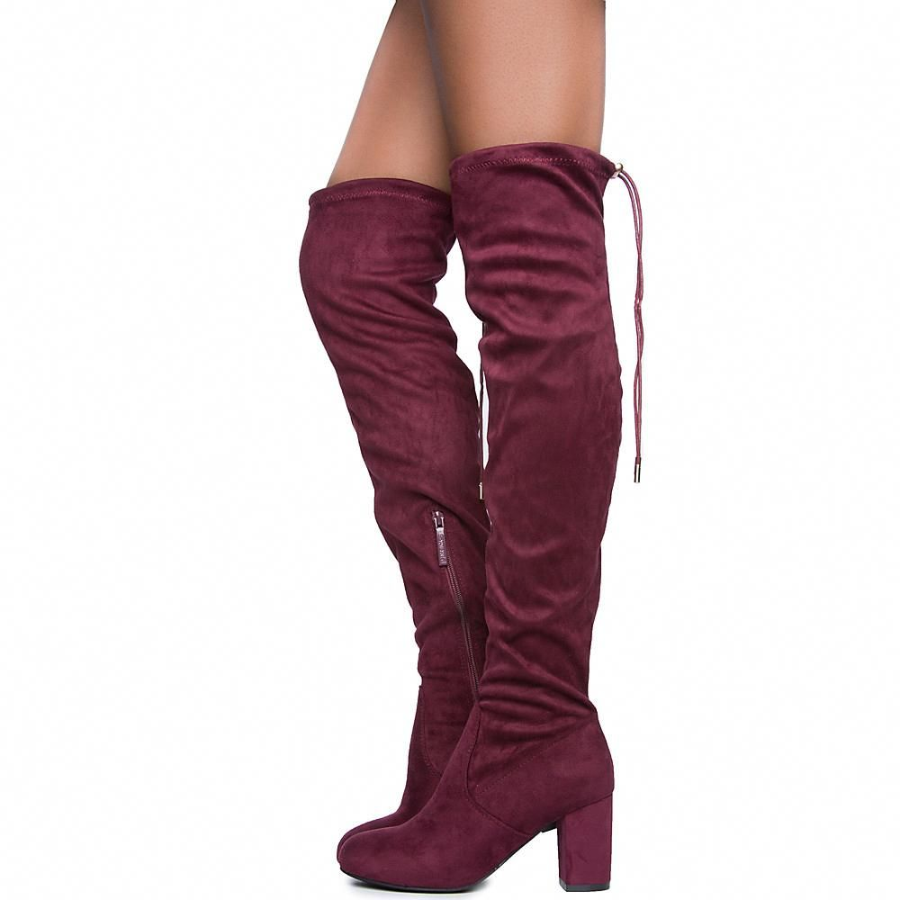 0b6d01ea7d3 Twin Tiger Footwear Women s Bonita 02 Knee-high Boot Wine  hothighheels