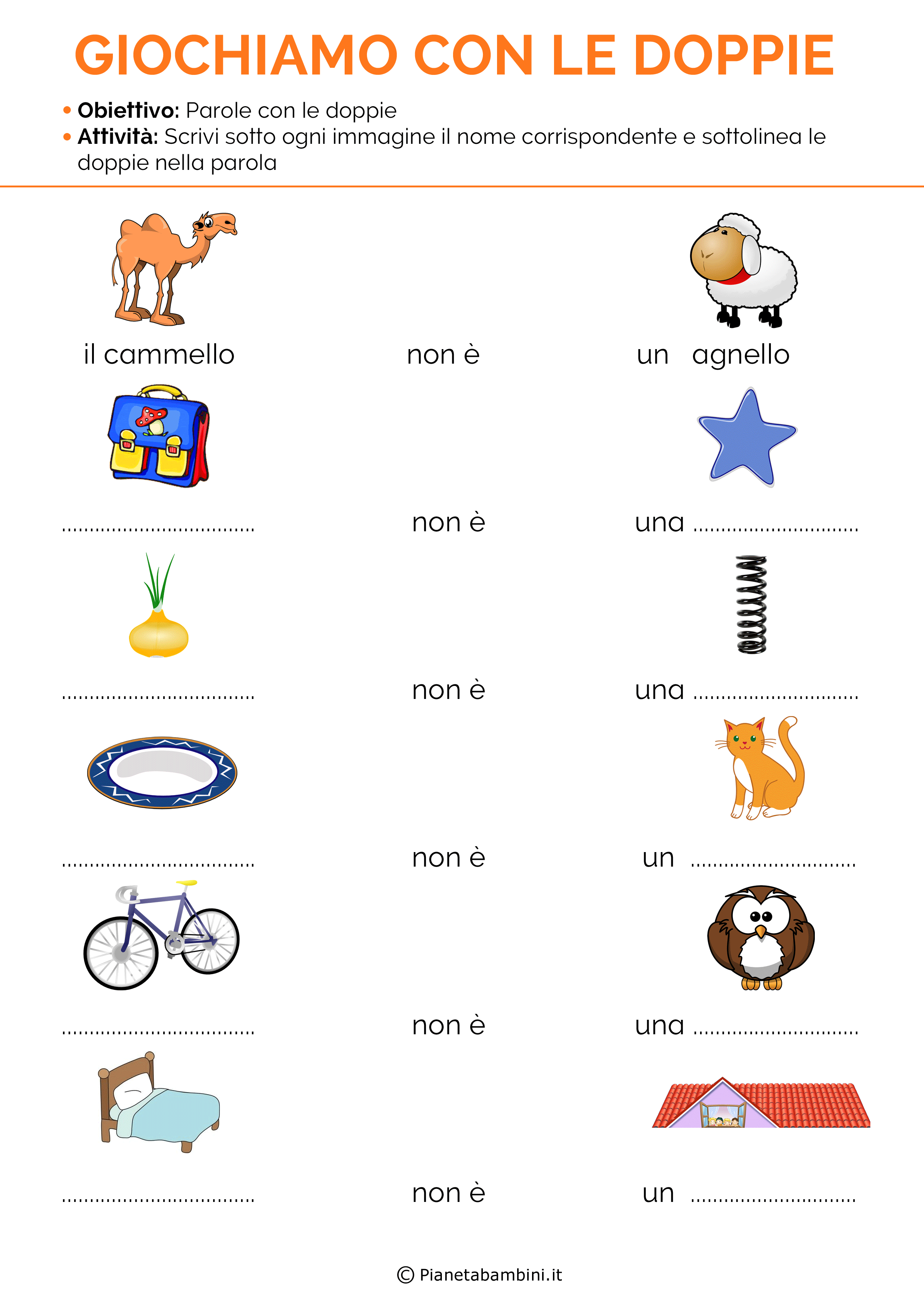 Favori Doppie | grammatica | Pinterest | Schede didattiche, Schede e  HN79