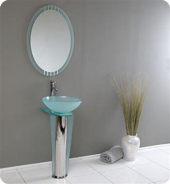 Fresca Vitale 16 x 20 Modern Glass Bathroom Vanity FVN1053 $439.00