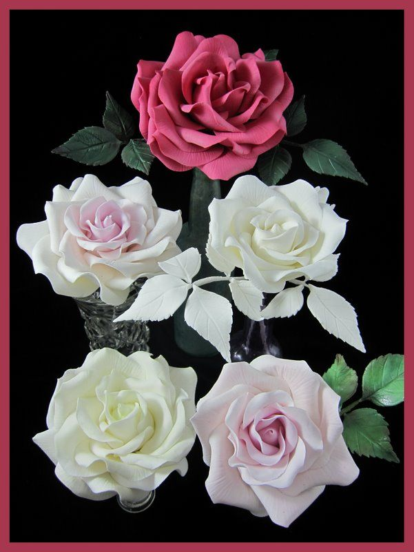 Cake Decorating Rose Design : sugar gumpaste roses class at Inspired by Michelle Cake ...