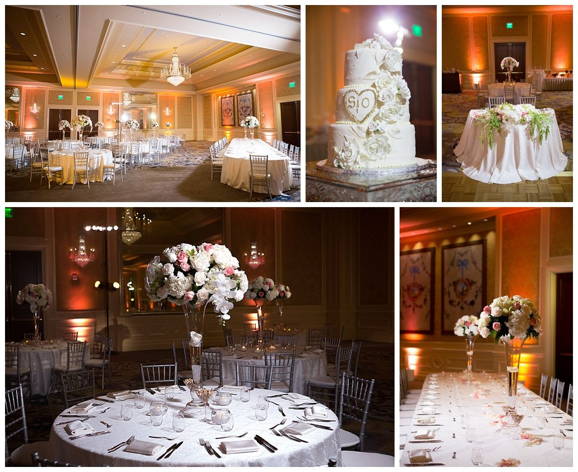 Las Vegas Wedding Planner Hilton Lake Ballroom White Linens