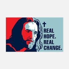 Real Hope. Real Change. Rectangle Decal for