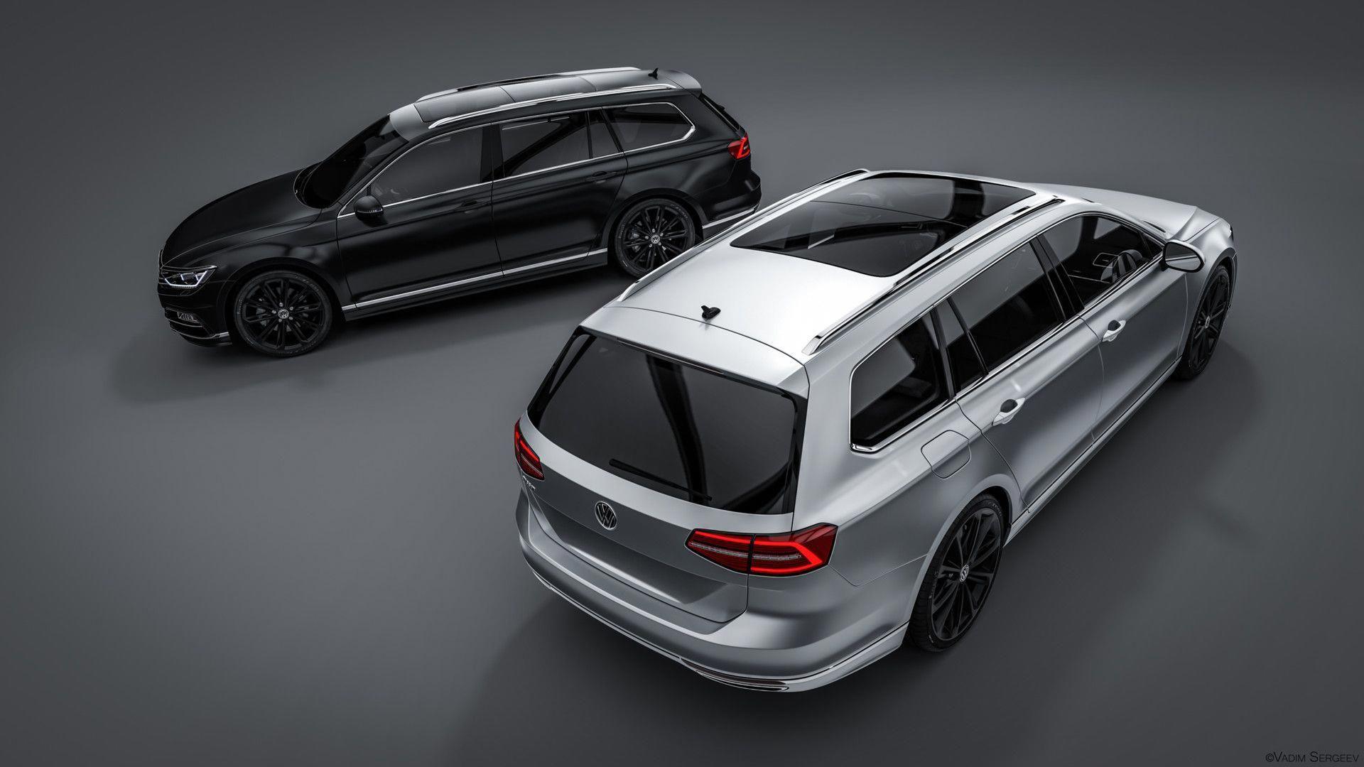 Artstation Volkswagen Passat Variant R Line 2015 Vadim Sergeev Volkswagenpassatcustom Volkswagen Volkswagen Passat Vw Passat