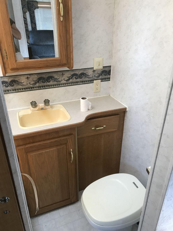 Rv Bathroom Updates Countertop Sink Faucet Bathroom Sink Remodel Rv Bathroom Bathroom Vanity Remodel [ 1163 x 872 Pixel ]
