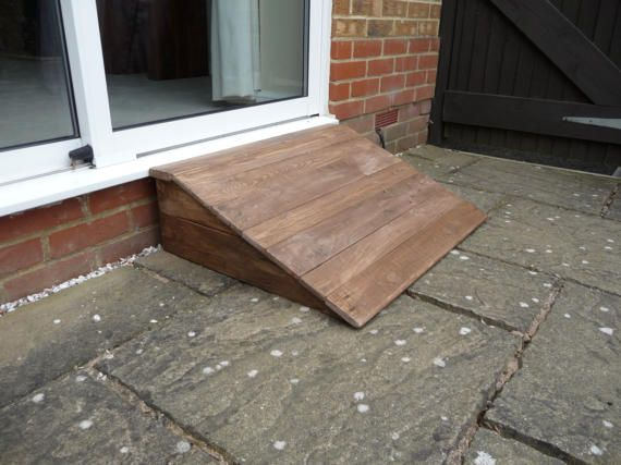 Lovely Practical Ramps Made For Small Dogs To Negotiate Back Door Steps And Patio Doors The One Pictured Is 23 Dog Ramp Outdoor Ramp Cheap Outdoor Patio Ideas