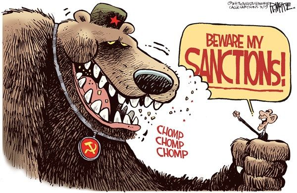 Image result for Western Sanctions CARTOON
