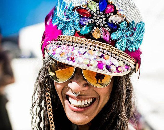 Nieuw AANGEPASTE kapiteins hoed, Burning Man, festival hoed, feest hoed EV-97