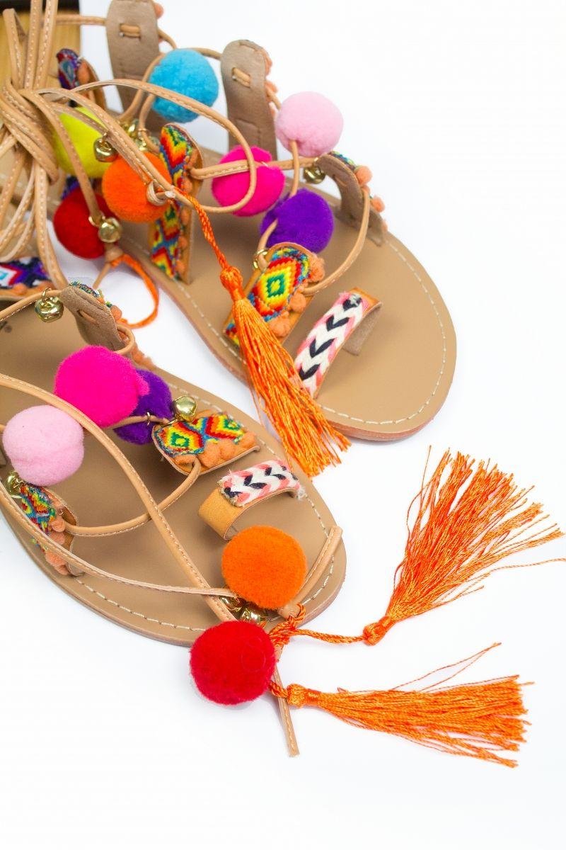 dbe864b1c4a0a5 Sandales pompons et tissages MAYA | WISHLIST | Sandales pompons ...