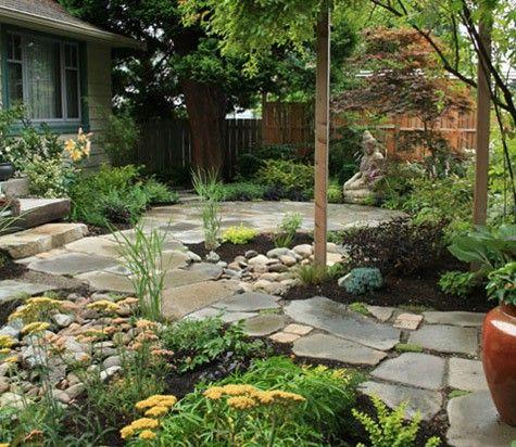 beautiful yard, no grass kaybruner Backyard Pinterest Grasses