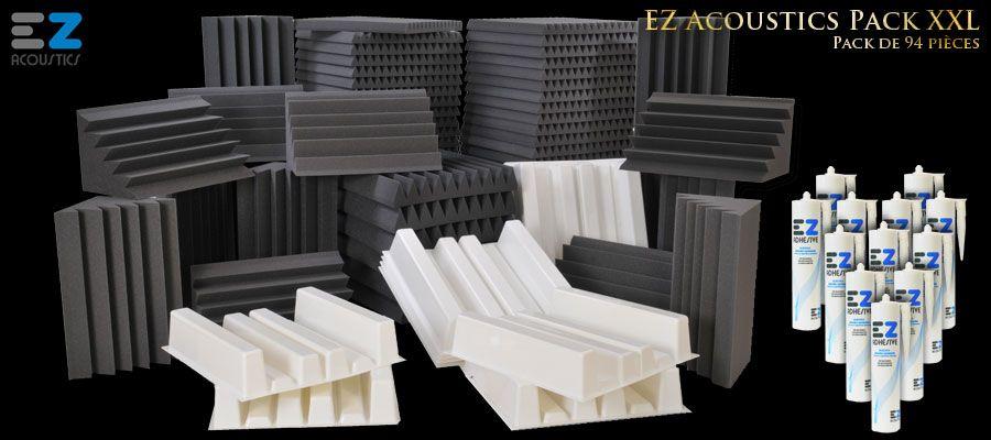 Panneaux acoustiques, absorbeurs, diffuseurs, Bass Trap, PAD d'enceinte et adhésifs EZ Acoustics