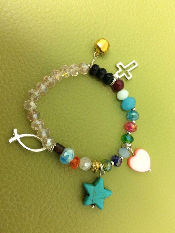 0d43774e8103 Girls Charm Bracelet About the Story of Jesus Toddler Kids Unique ...