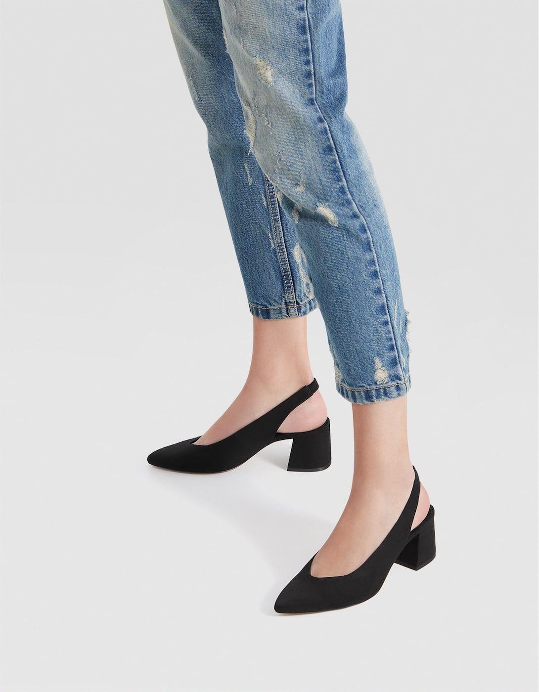 fc9d997c3e429 Black slingback mid-heel court shoes in 2019 | autumn 18 | Women's ...