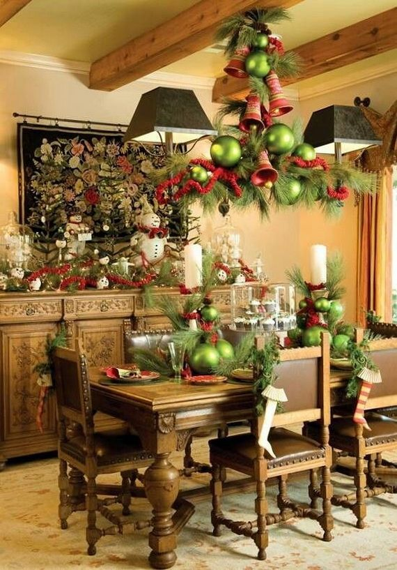 A Festive Christmas Table Decoration In Style Christmas Chandelier Christmas Table Decorations Christmas Tablescapes