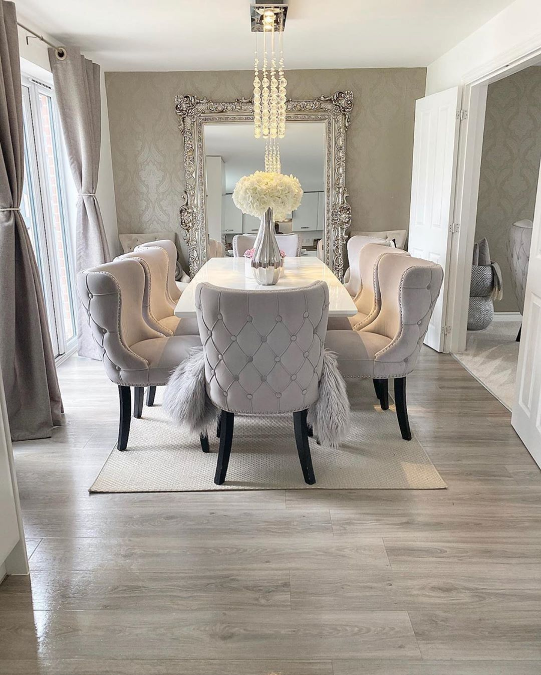 Vicky On Instagram Good Morning Hope You Have A Wonderful Day Ahead It S Rainy Here In Mi Dream Dining Room Dinning Room Table Decor Luxury Dining Room