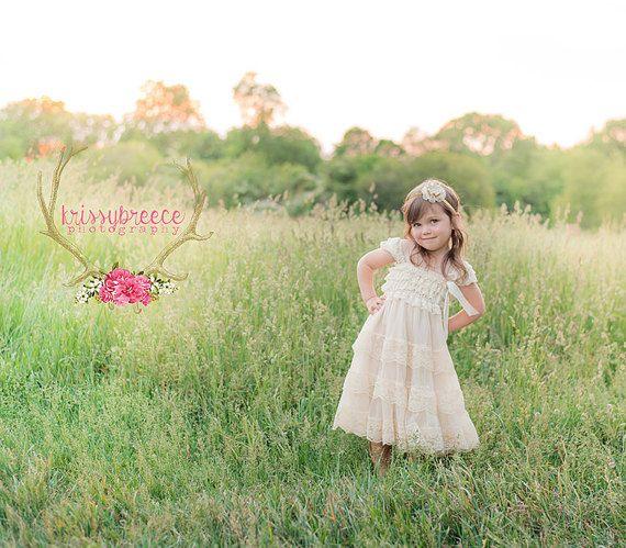 encaje vestido de niña de flor vestido de la muchacha de