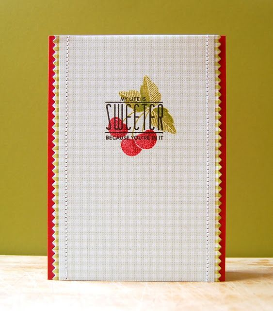 Life Is Sweeter Card by Cristina Kowalczyk for Papertrey Ink (September 2013)