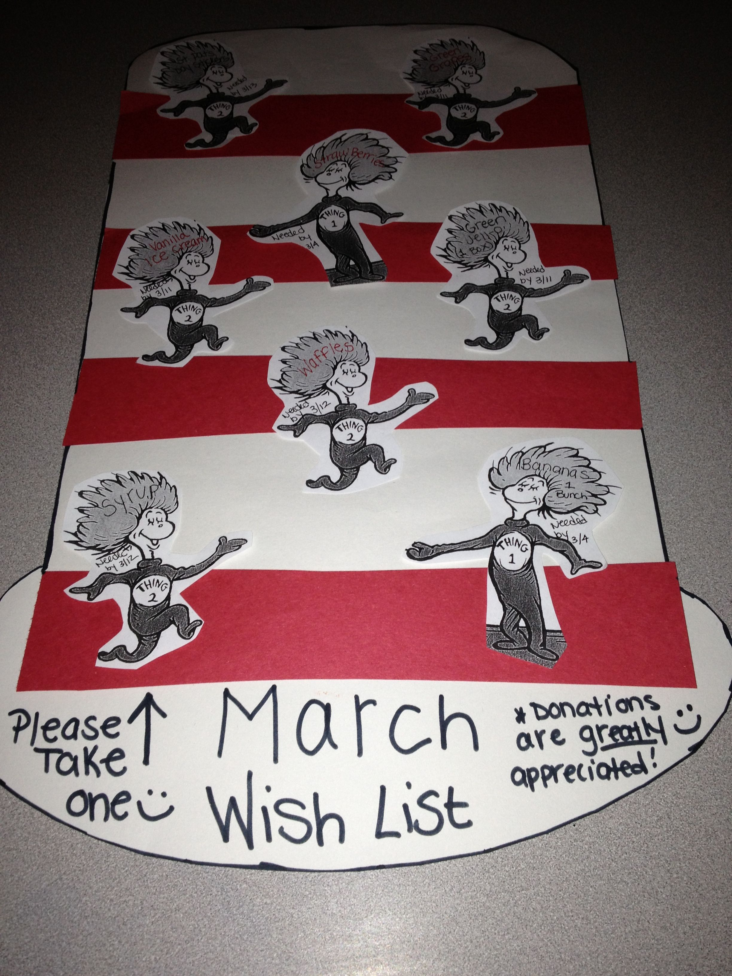 For Dr Seuss Day A Wish List For Parents To Donate Items