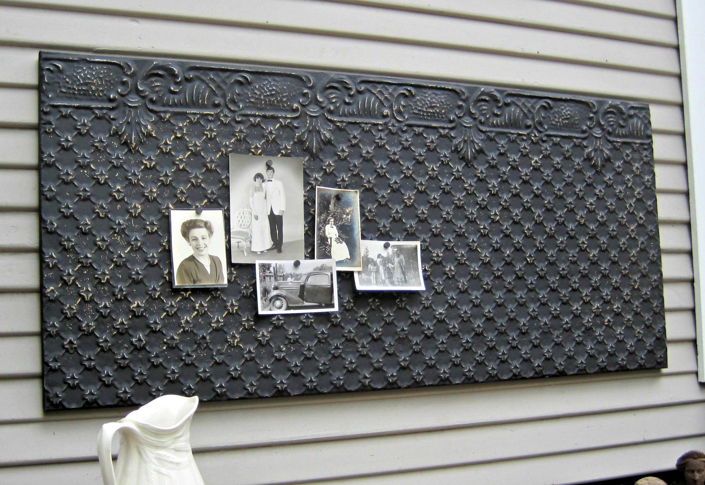 Tin Ceiling Tile Large Magnet Board Antique