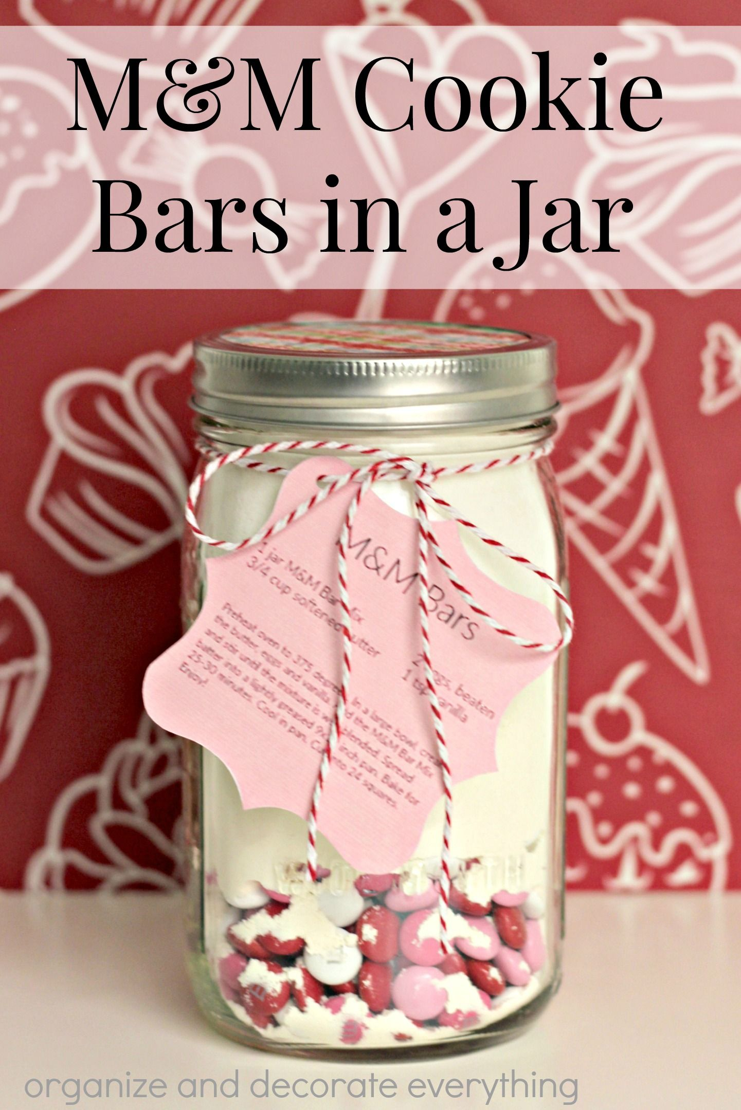 Mum cookie bars in a jar delicious treats pinterest bar