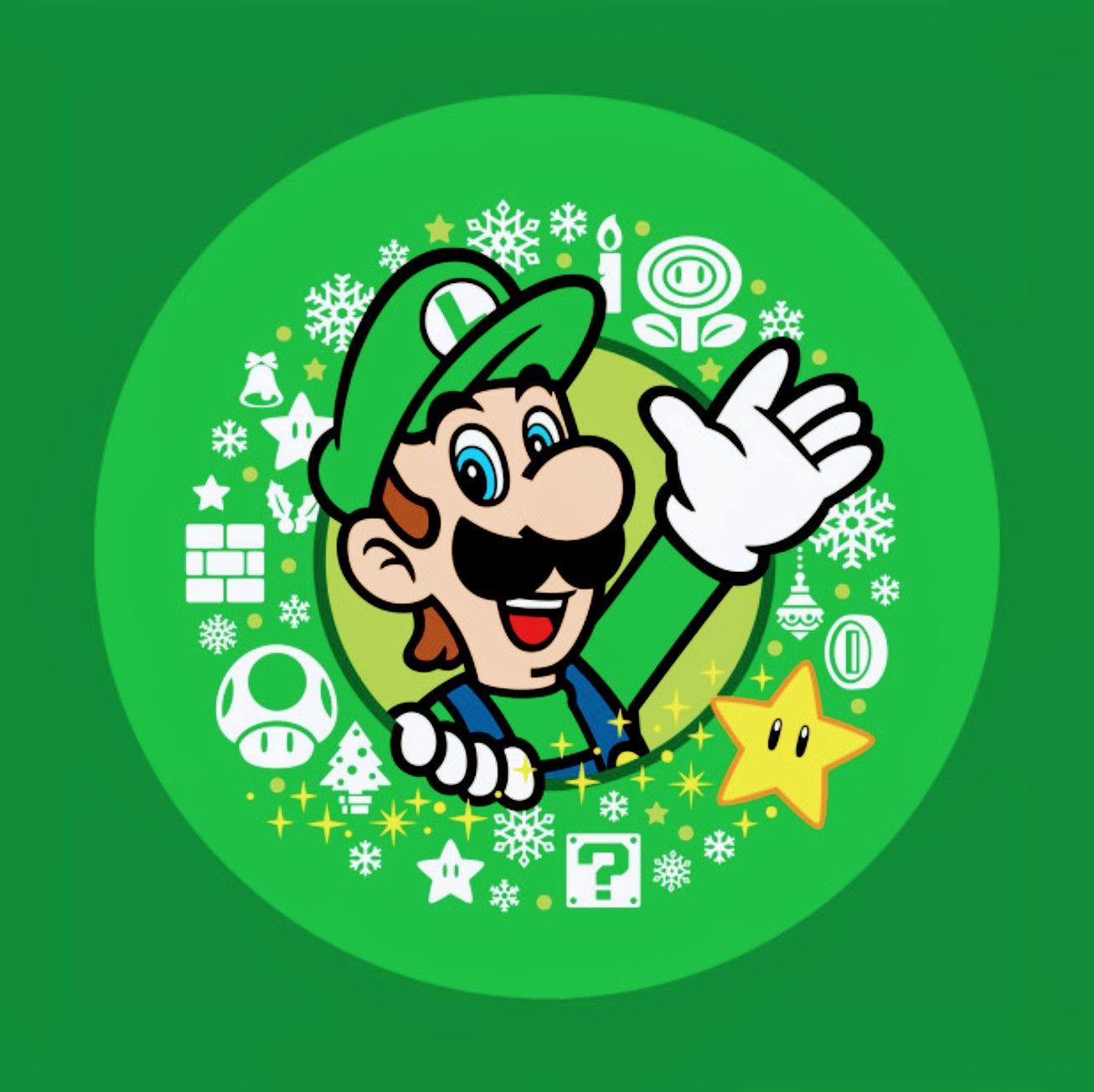 Luigi Happy Holidays Super Mario World Super Mario World Luigi Mario