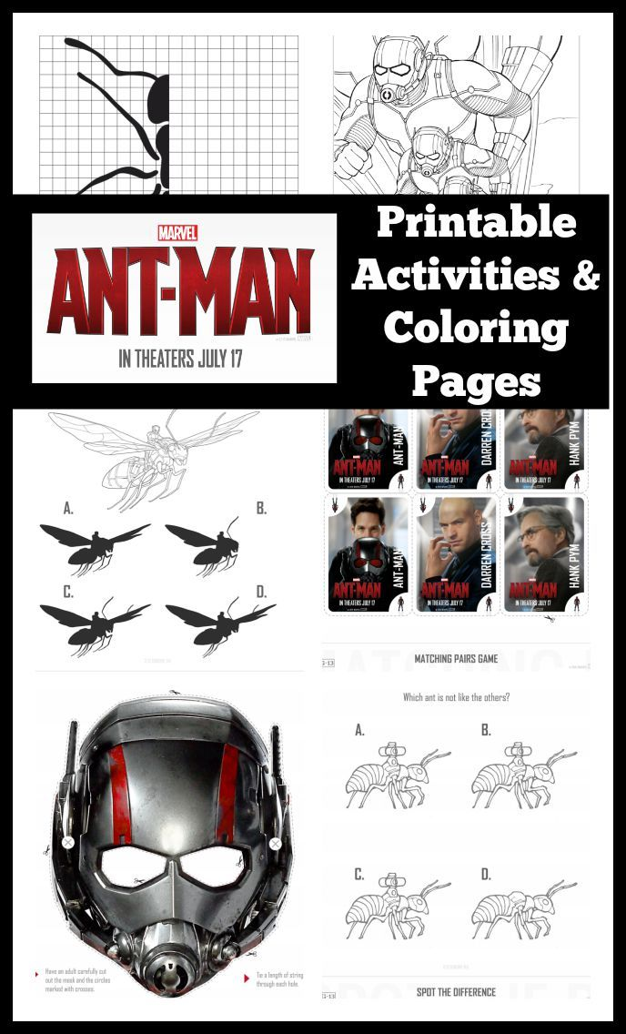 Ant-Man Printable Activities and Coloring Pages | Fiestas