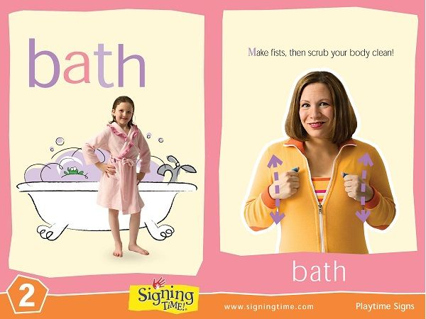 Sign of the Week - Bath | Baby sign language, Sign ...
