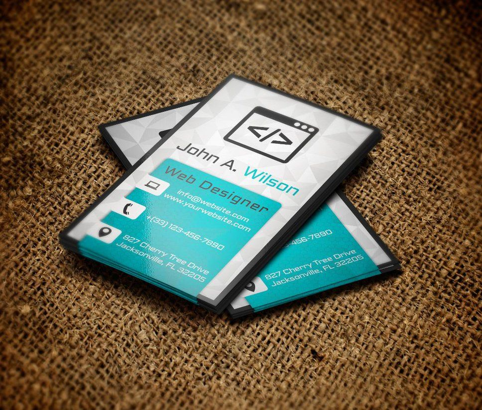 Free Business Card Template By Greyfoxgr Deviantart On
