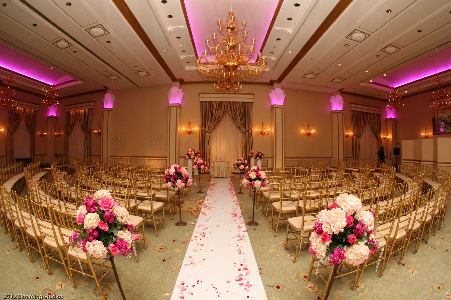 The Grand Ballroom with different LED lighting