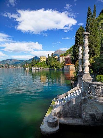 The secret entrance to the palace.  Lake Como, Italy