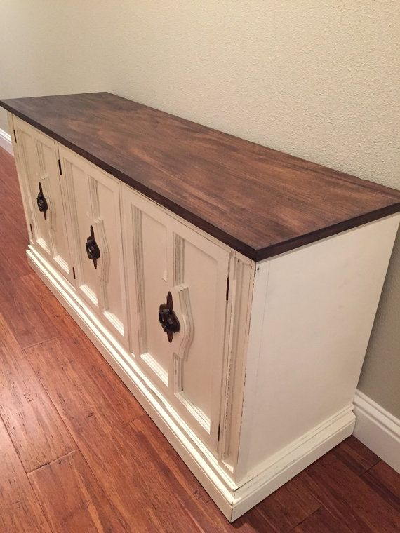 Farmhouse Style Dining Room Buffet Sideboard Painted White