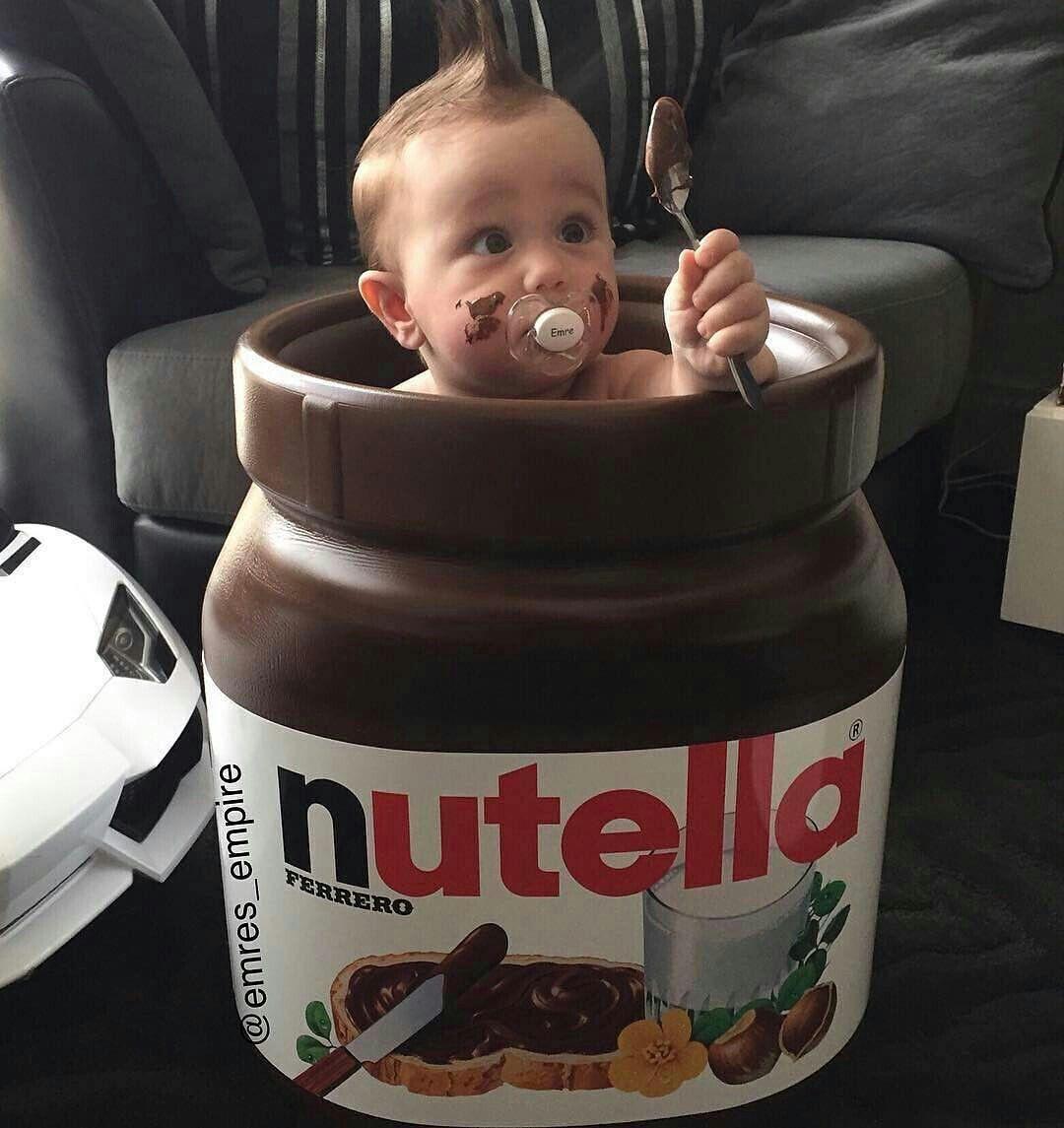 Pin Von Kaat Janssens Auf Baby Kids Nutella Lustig Nutella Bilder Baby Fotoshooting