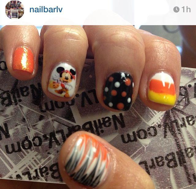 Halloween Nails Nail Bar Mickey Mouse Disney Halloween Nails Nail Art Disney Mickey Mouse Nails