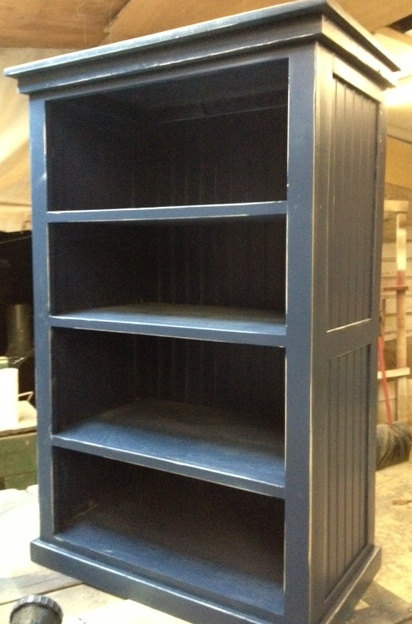 Bookcase Navy Blue Distressed Shabby Chic By Rusticfurnishings 275 00
