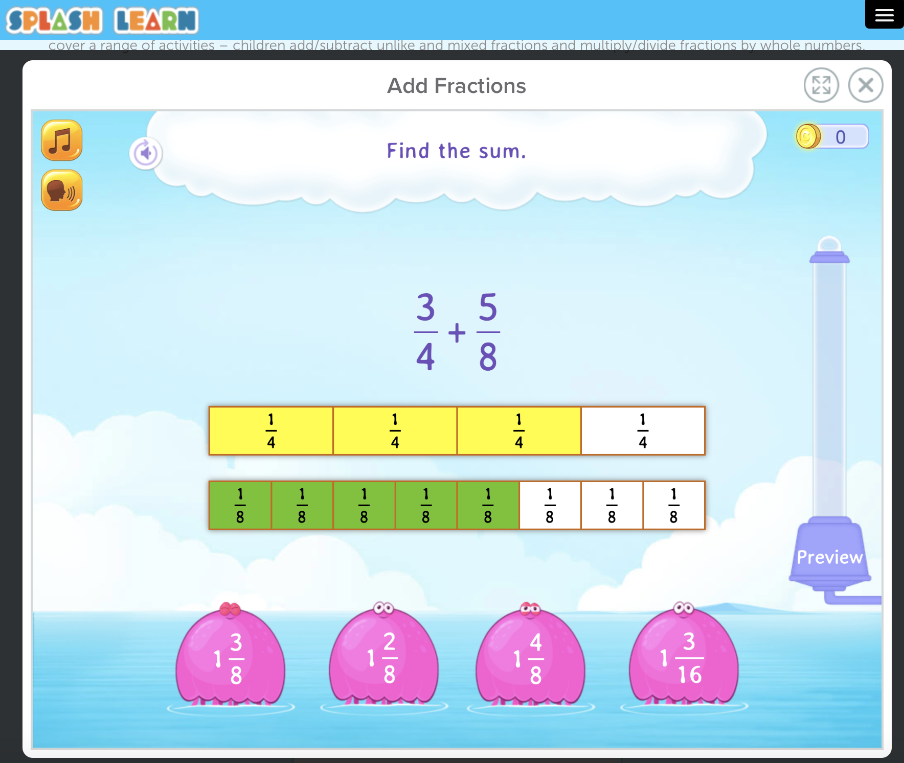 Practice Fractions With Splash Learn In