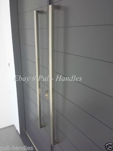 Entry Entrance Front Door Pull Square Handle Stainless Steel 24 034 To 70 034 Inch Long Door Handles Door Handles Interior Exterior Door Handles