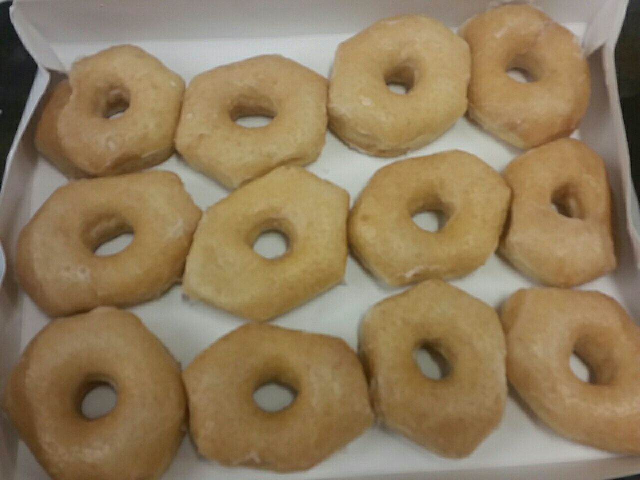 My boss bought low-polygon donuts for us today.