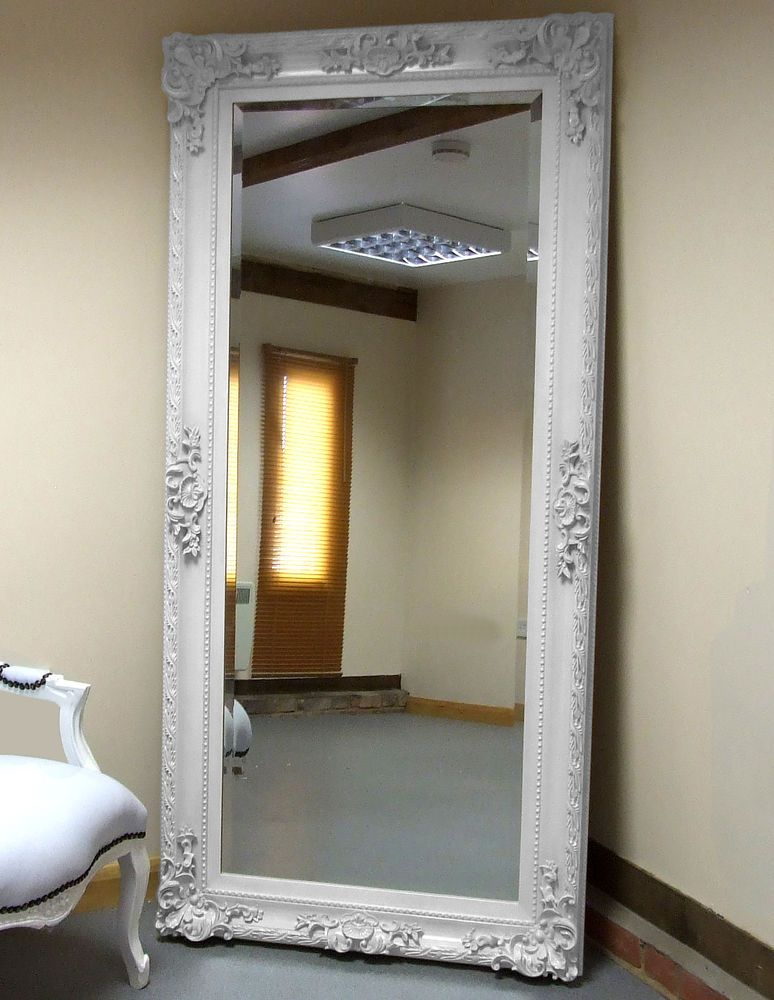 Pin On Tall Woman, White Shabby Chic Full Length Wall Mirror