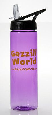 Take your favorite drink with you in this awesome purple (of course!) travel beverage container. Water tastes better when you drink it out of a GazziliWorld water bottle!