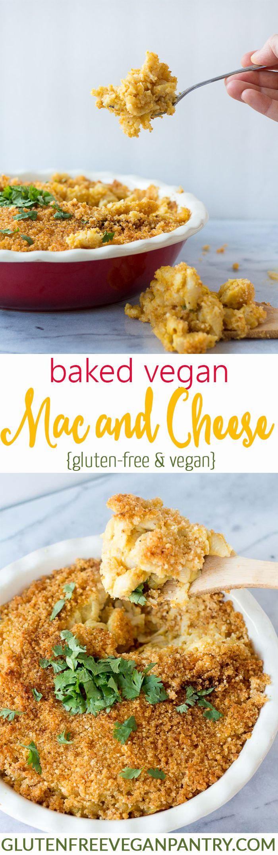 Baked Vegan Mac And Cheese Gluten Free Too Recipe Vegan Mac