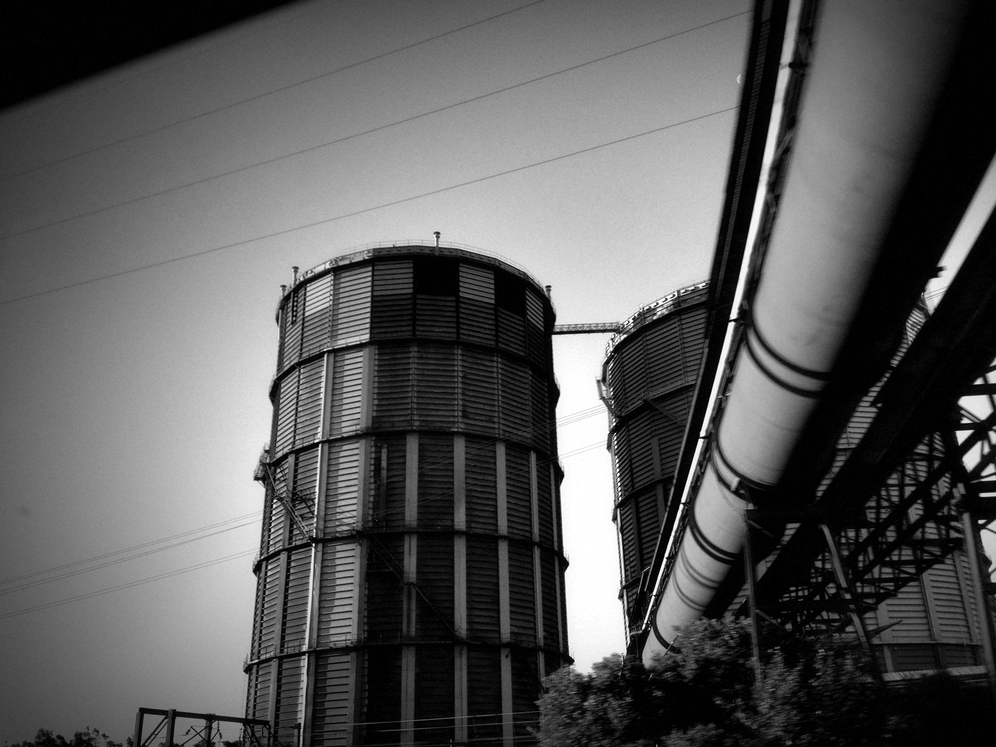 BlueScope Steelwork's tanks in their enormity.