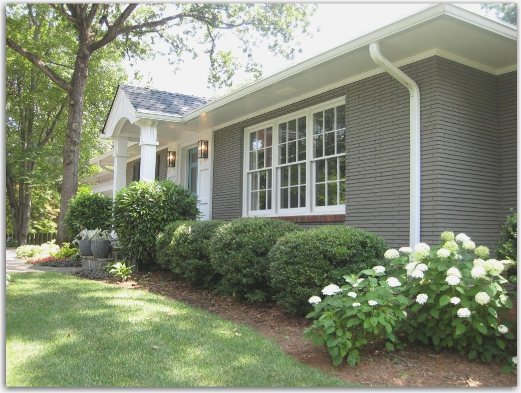 Painted Brick Before And After shapwee   House ideas   Pinterest ...