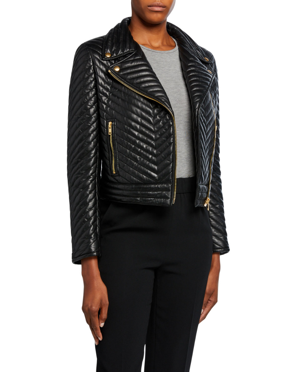 Escada Sport Limana Quilted Leather Jacket Leather Jacket Jackets Escada Sport [ 1250 x 1000 Pixel ]