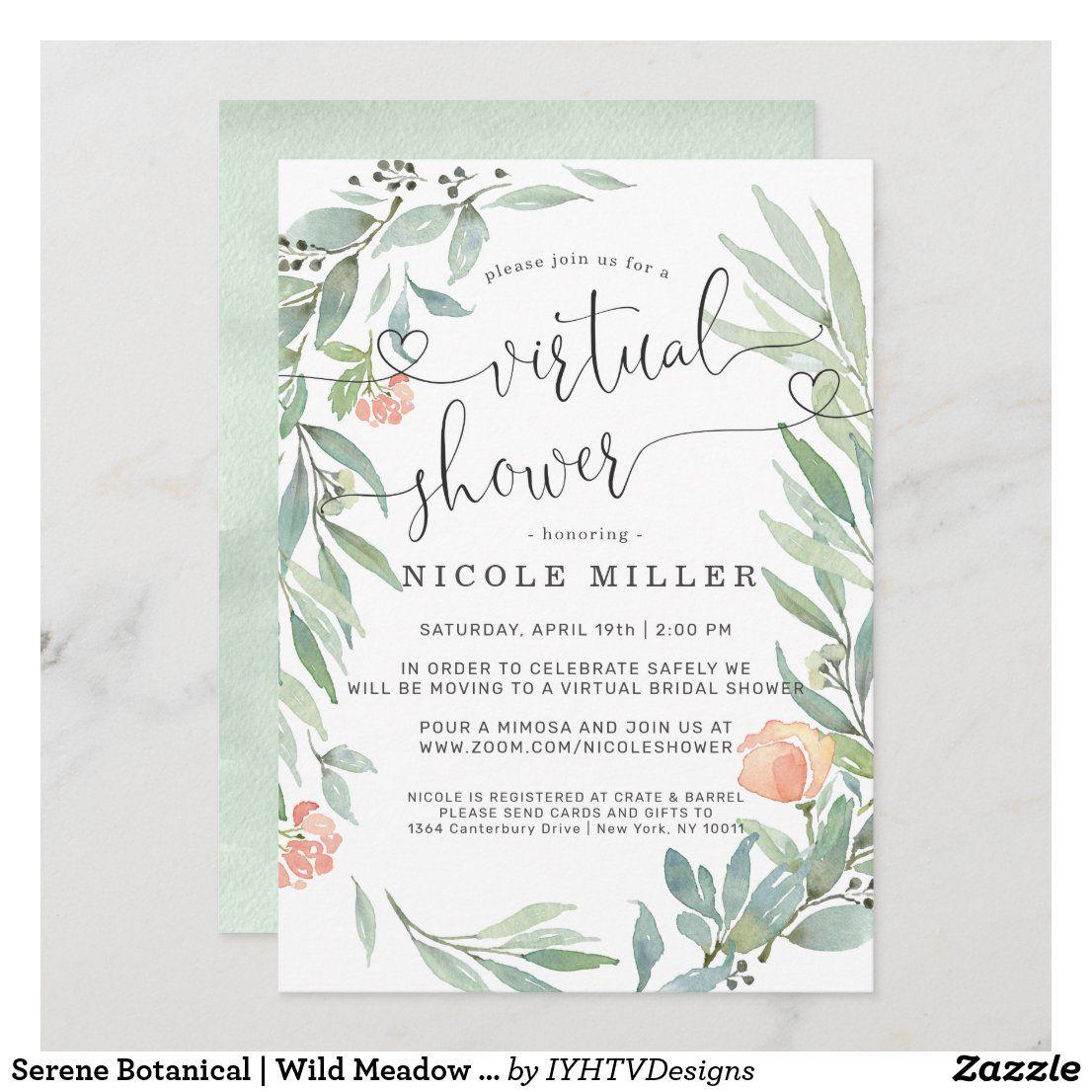 Pin on Virtual Bridal Shower Invitations