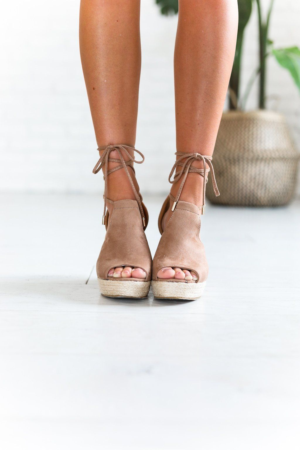 0c8bf4170117b Sandy Bottom Taupe Espadrilles Tan Wedges Outfit