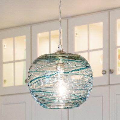 Ruffled Art Glass Ceiling Lantern Feathered Shades Of Green Art Glass In A Ruffled Shape Sha Beach House Lighting Glass Pendant Light Glass Globe Pendant Light Mini pendant lights art glass