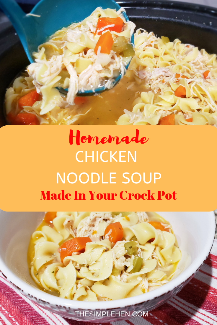 homemade chicken noodle soup in your crock pot  recipe